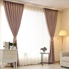 Hotel Room Darkening Curtains Thick Cotton Solid Color Linen Curtains Custom Hotel