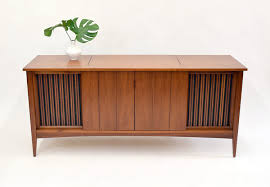 fabulous mid century stereo cabinet console credenza sold