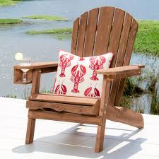 Patio Chairs With Ottoman Pelican Hill Wood Adirondack Patio Chair With Pull Out Ottoman