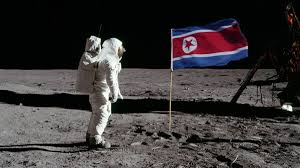Picture Of Flag On Moon North Korea Puts A Man On The Moon