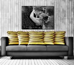 amazon com song lyric art custom wedding canvas print with love