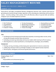 Sales Management Resume Resume For Sales Manager Position 2017 Resume 2017