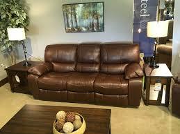 Flexsteel Reclining Leather Sofa Sofas Grey Living Room Furniture Flexsteel Chairs Flexsteel