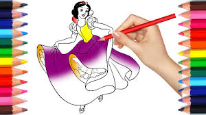 snow white coloring book disney princess coloring book snow white for kids learn colors