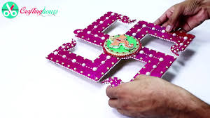 Swastik Decoration Pictures How To Make Swastik Design With Ganesha Wall Hanging For Diwali