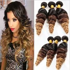 ombre hair extensions uk cheap 1b 4 27 brown ombre hair extensions three tone coloed