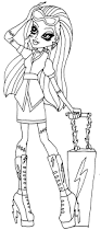 monster high coloring coloring or applique patterns for