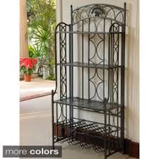 What Do You Put On A Bakers Rack Harper Blvd Baker U0027s Rack With 12 Bottle Wine Storage Free
