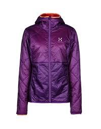 haglà fs lim barrier pro hood insulation jacket purple women coats