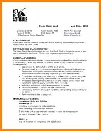 Receiving Clerk Job Description Resume by 11 Stock Clerk Job Description U2013 Bill Pay Calendar
