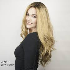layer hair with ponytail at crown ponytail wig 24 long layered premium remy hair wig human hair