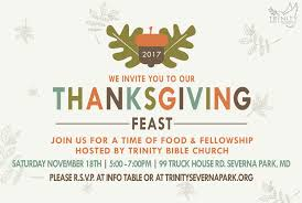 thanksgiving dinner bible church