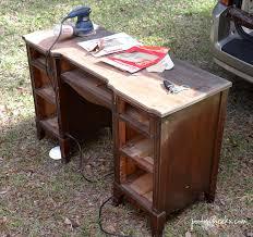 Chalk Paint Desk by Two Toned Chalk Paint Vintage Desk Redo Poofy Cheeks