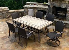 Patio Table Tile Top Awesome Patio Tables Lowes Inspirations Low Furniture Specialist