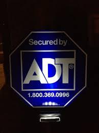 adt solar yard sign light with 3 leds make sure burglars can see adt