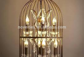 How To Make A Birdcage Chandelier Chandelier Birdcage Chandelier Black Rust Color