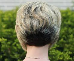 bob hairstyle cut wedged in back back view of stacked bob hairstyle layered short hairstyle for