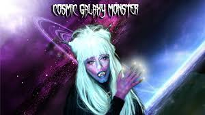 cosmic galaxy monster halloween makeup tutorial youtube