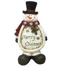 alpine christmas snowman light up statue decor tm beh112hh tm