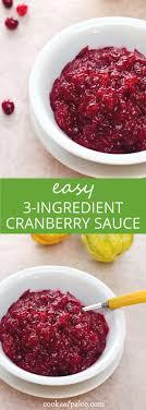 3 ingredient paleo cranberry sauce gluten free paleo recipe