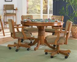dining table with caster chairs new swivel tilt dining dinette 4 chairs on casters and table set