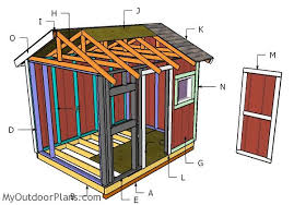 Garden Shed Plan 8x10 Shed Plans Myoutdoorplans Free Woodworking Plans And
