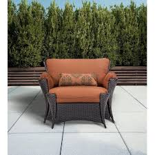 strathmere allure 2 piece wicker patio chair ottoman set target