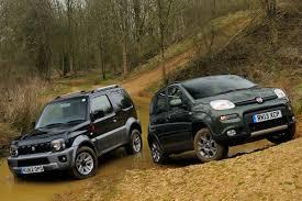 suzuki jimny off road fiat panda 4x4 vs suzuki jimny auto express