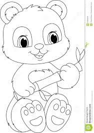 panda coloring page stock vector image 42329750