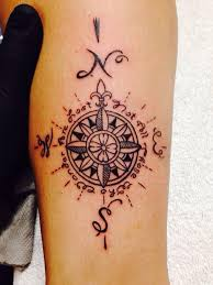 Texas travel tattoos images Compass tattoo quot not all those who wander are lost quot j r r jpg