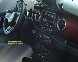 2018 jeep wrangler interior fully revealed news spied no camo inside the 2018 jeep wrangler