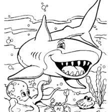robot shark coloring kids drawing coloring pages marisa