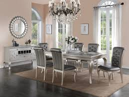 Grey Dining Room Furniture by F2151 Gray Dining Table By Poundex