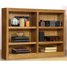 amazon com midas six shelf double bookcase 36