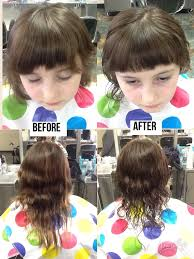 trimming hair angle cut before and after haircut 1 1 2 inch off the length at a 45 degree