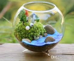 handcrafted planter moss terrarium glass fish tank home decoration