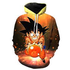 galaxy 3d sweatshirts hoodies dragon ball goku free shipping