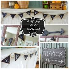homemade home decorations diy fall mantel chalkboard projects using homemade chalkboard