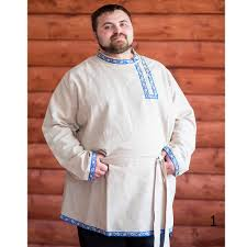 linen shirt for men boy russian kosovorotka slavic style
