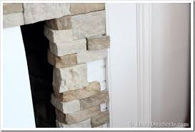How To Lay Brick Fireplace by Airstone Fireplace Makeover On A Diy Budget Inmyownstyle