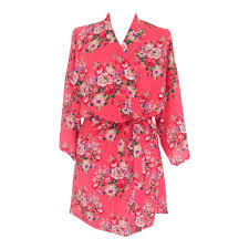 dressing gown ivory floral cotton dressing gown the bridal outlet