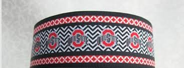 ohio state ribbon 3 yards 1 1 2 ohio state grosgrain ribbon by softba11bows on etsy