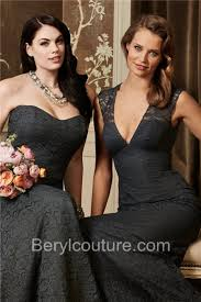charcoal grey bridesmaid dresses mermaid v neck open back empire waist charcoal grey lace