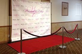 wedding backdrop logo get a logo backdrop velvet ropes carpet for any event you