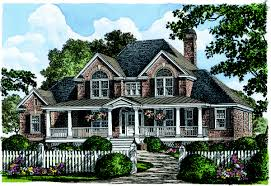 farmhouse house plan with 3448 square feet and 4 bedrooms from 17