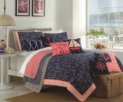 Coral Bedspread Amazon Com Max Studio Nautical Design Bedspread 3pc Full Queen
