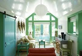 pastel blue and green colors creating tender and airy interior