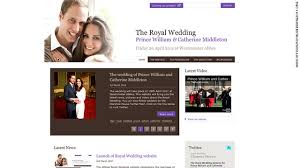 william and kate wedding website launches cnn