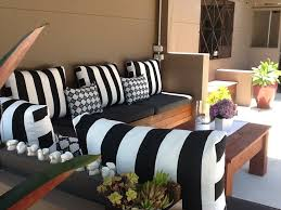 White Patio Cushions by Black Outdoor Cushions Home Design Ideas And Pictures