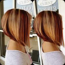 highlights for inverted bob inverted bob copper highlights hair pinterest copper